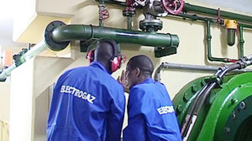 Electrogaz workers fixing pipes. Customers are complaining of poor services.