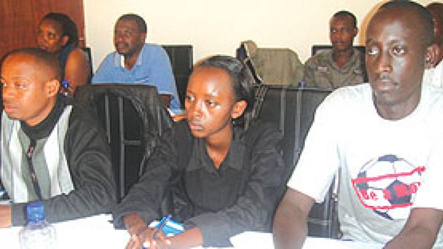 Youth participants during the Human Rights training. (Photo E.Mutara)