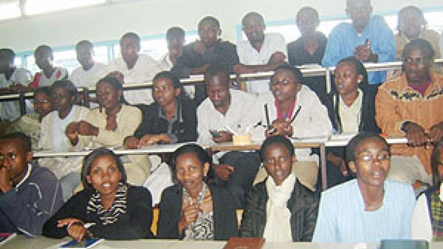ISAE students who are members of the Gender Club at a meeting held on Septemner 22, 2008. (File photo)