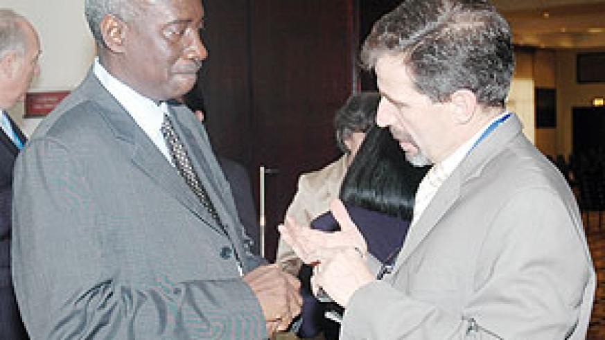 ICTR Prosecutor Bubacar Jallow listens to one of the participants at the colloquium yesterday. (Photo J. Mbanda)