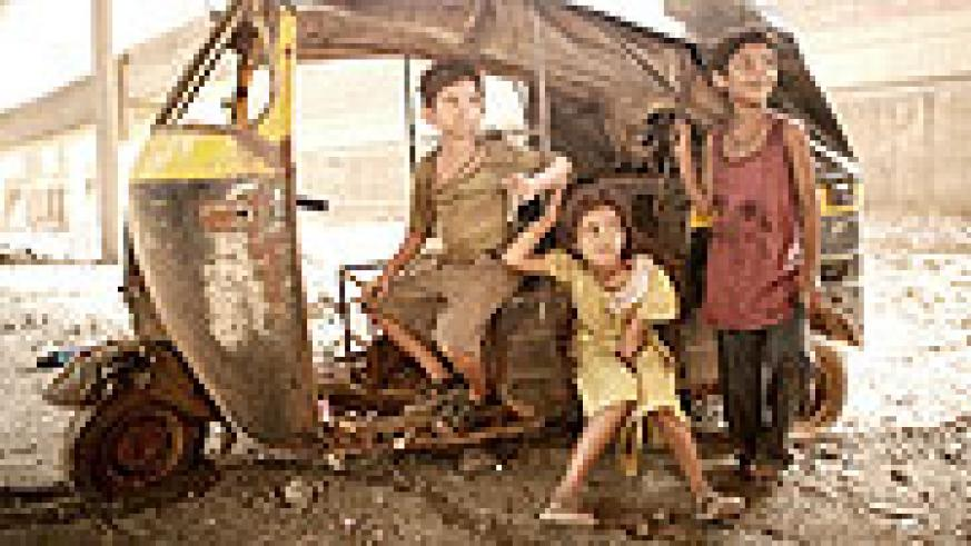 The young actors of Oscar winning movie, Slumdog Millionaire.