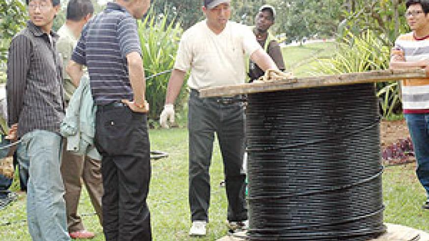 Fibre-optic cables being rolledout around Kiagali city. (file photo)
