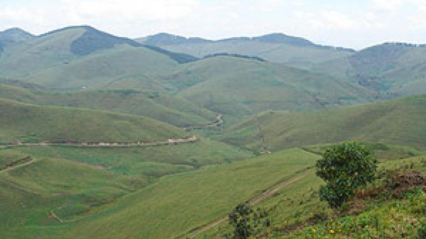 A view of Rwandan mountaineous terrain.(File photo)