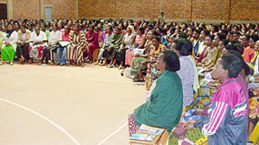 A cross section of the women council representatives who  turned up for Itorero training  at GS Notre Dame Du Bon Cosnsel. (Photo: A. Gahene)