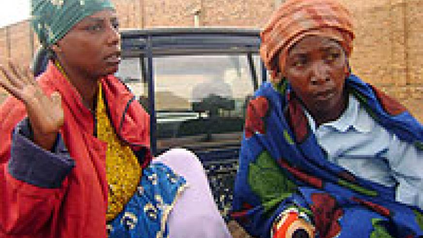 The women aboard police pick up. (Photo / S. Rwembeho)