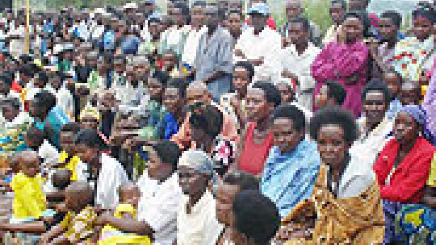 A cross section of residents who turned up at a ceremony to mark reconciliation achievements. (Photo: D. Sabiiti)
