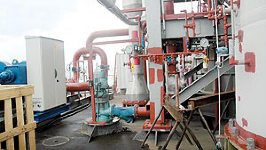 A section of the Kivu Methane Gas Project. This is one of the projects where government is targeting to solve the energy problems in the country (File Photo)