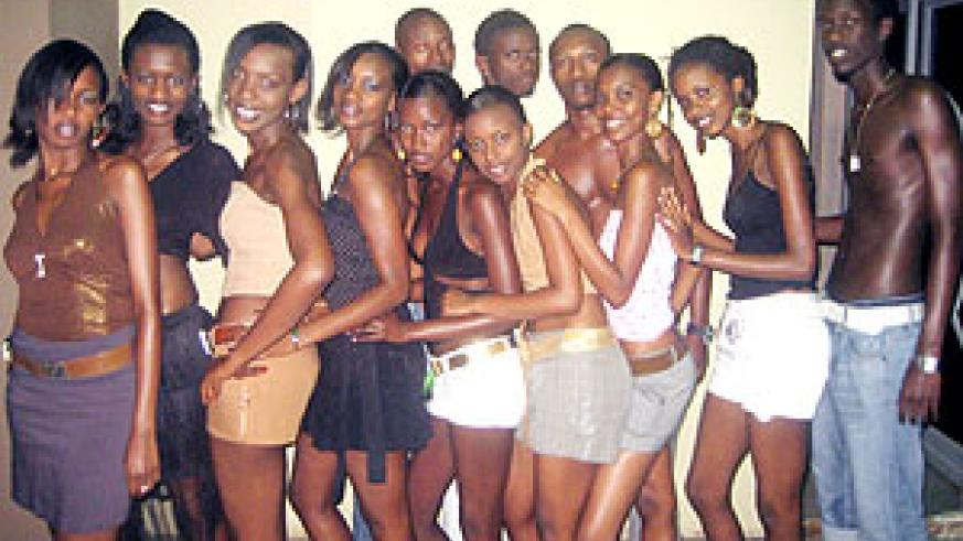 The aspiring young male and female models in the'Top Model Search'