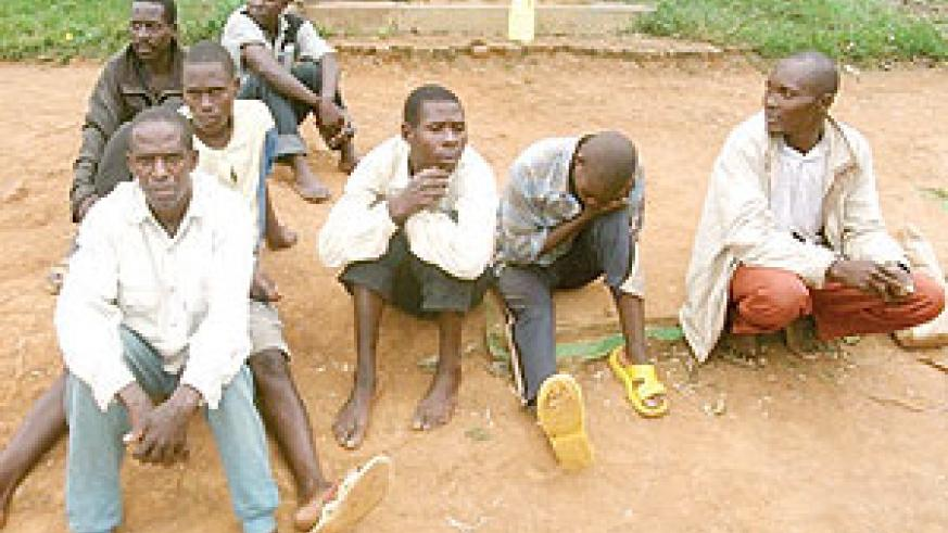Help us go back home;Burundians who were arrested at Nyagatare police post. (Photo / D. Ngabonziza)