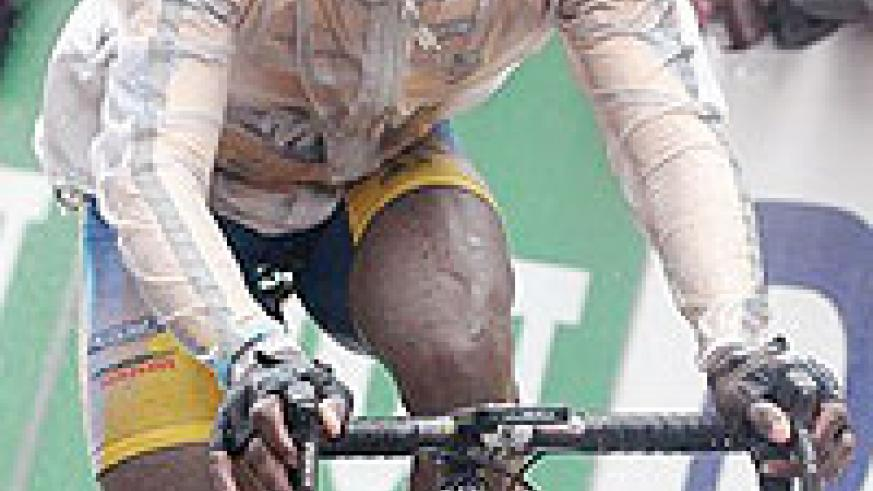 Niyonshuti is in Gabon but will be riding for his South African club MTN Energade