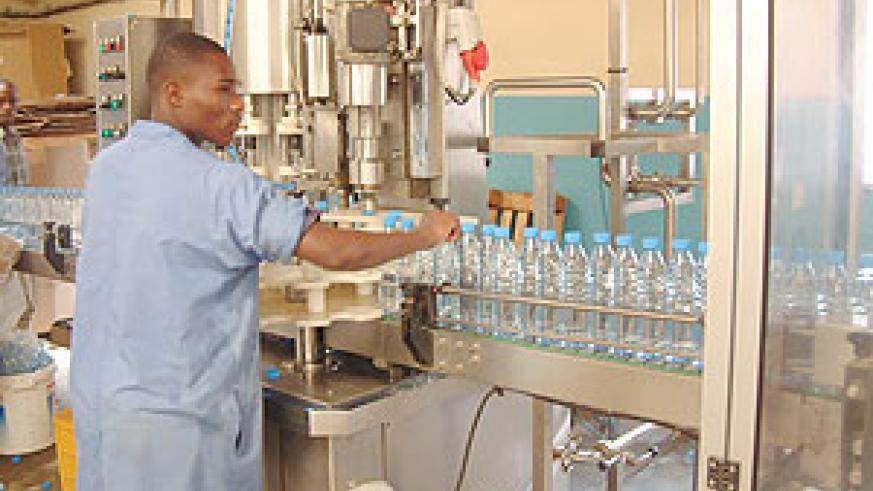 Inyange Industries: Consumer prices went down in December (File photo)