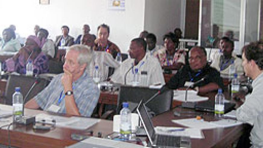 Participants attending a regional meeting on cassava in Huye. (Photo: P. Ntambara)