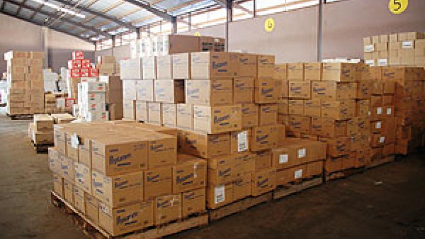 Imported cargo waiting for clearence at Magerwa (file photo)