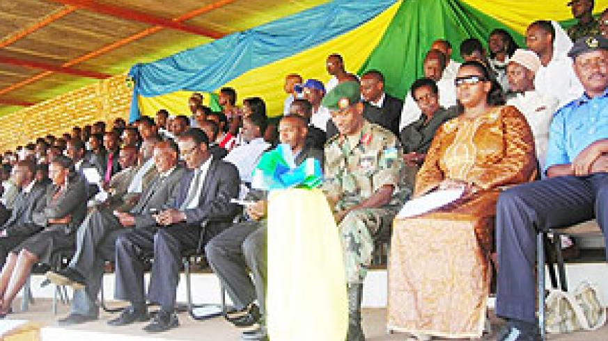 Guests who attended Heroes Day celebrations at Huye stadium. (Photo: P. Ntambara)