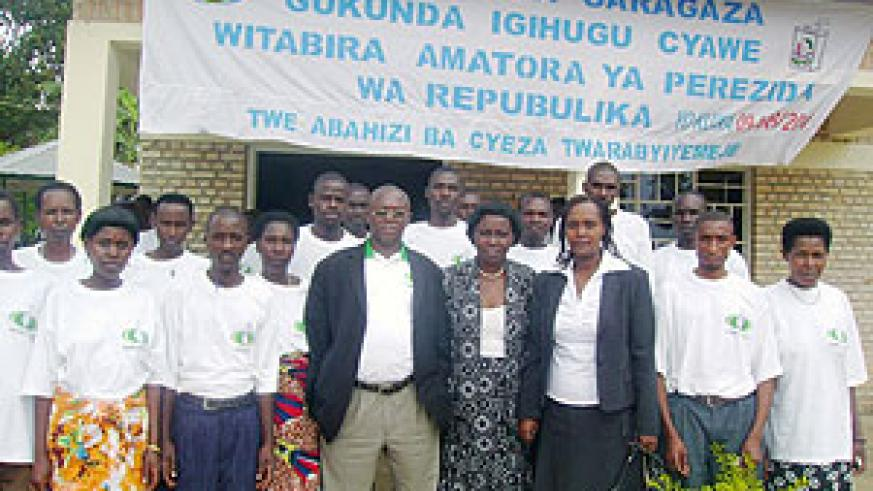Some of the cooperative members pose for a group photo at the training. (Photo: D. Sabiiti)