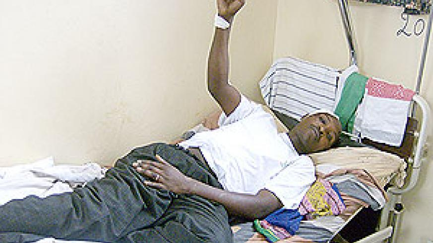 One of the survivors recovers in Rwamagana Hospital. (Photo / S. Rwembeho)