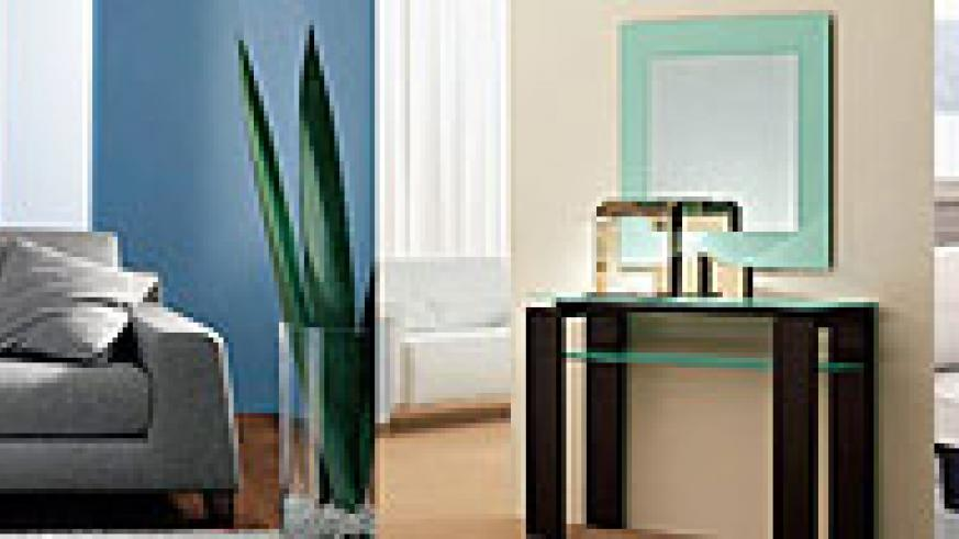 L-R : Use cool and warm colours on the walls, while allowing furniture to blend into it ; A mirror in a hallway will not only look stunning but it will also be practical ;Small rooms should be kept clean and fresh to maintain an airy feel.