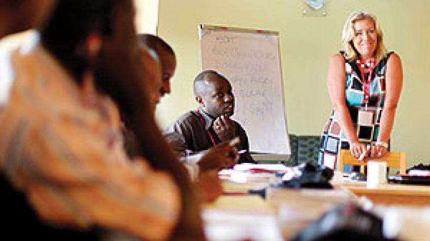 Carol Miles leads one of the training sessions.(Photo/ I. Mugisha)