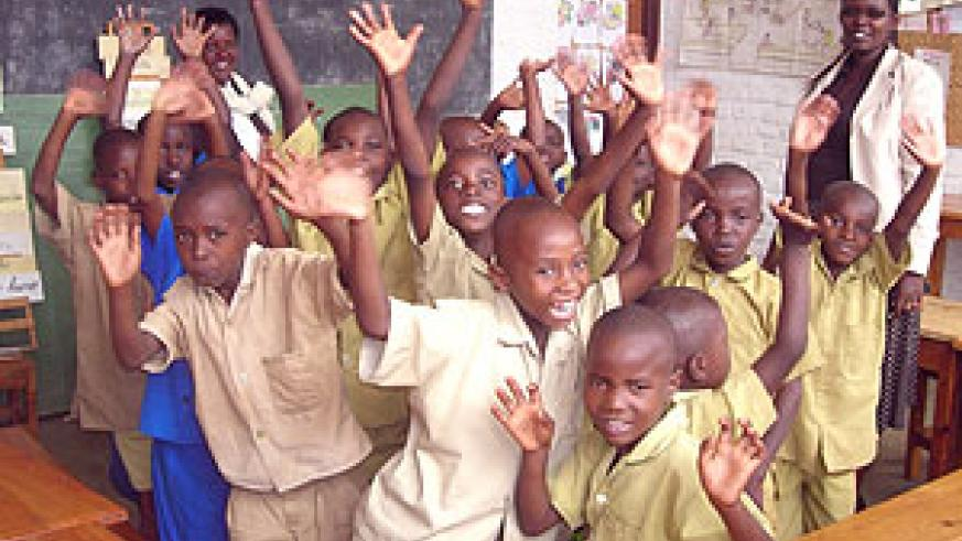 Some of the pupils at the Butare Special Centre for the Dumb and Deaf .(Photo / P. Ntambara)