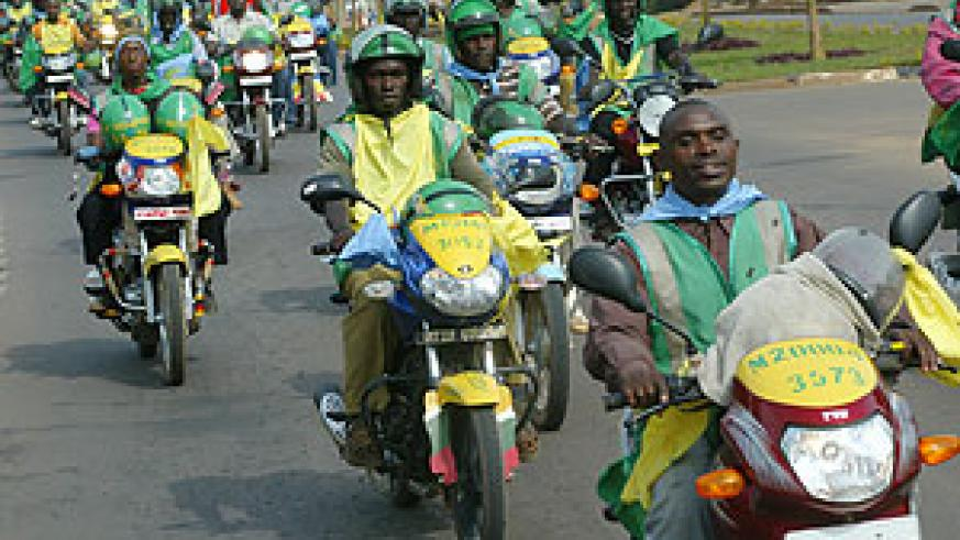 Taxi Moto's as they are popularily known. Traffic Police must make sure they do not ride under the influence of alcohol and other drugs.