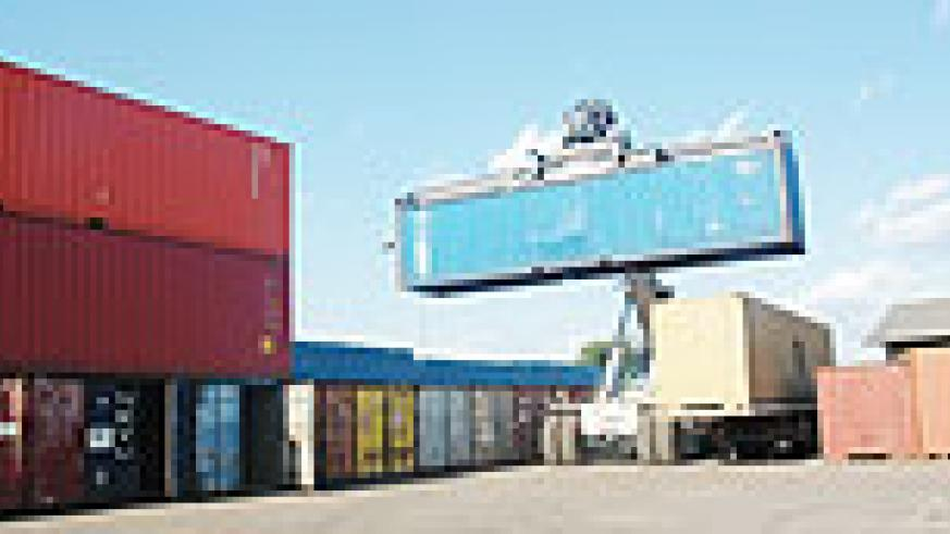 Cargo being cleared at Magerwa: Imports into Rwanda registered a substantial rise in 2009. (File photo)