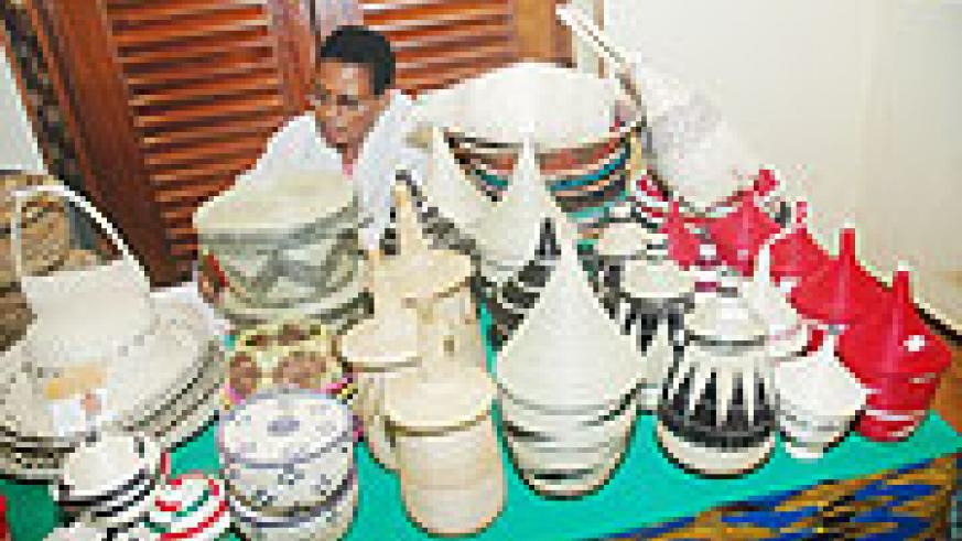 Some of the products from Rwanda's crafts industry. (File photo)