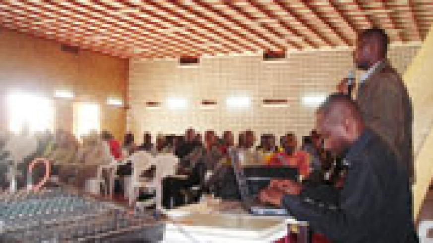 Officials attending a district education meeting on Tuesday. (Photo / P. Ntambara)
