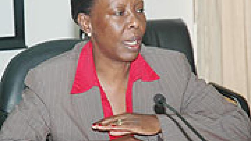 The Minister of Foreign Affairs and Cooperation, Louise Mushikiwabo