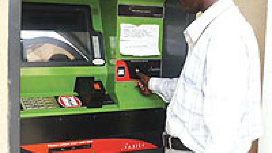 SIMTEL's local production of ATM cards will see the increase of ATM machines in Rwanda. (File Photo)