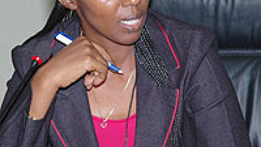 The State Minister in Charge of Water and Energy, Eng. Coletha Ruhamya