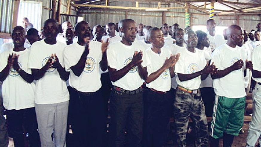 A cross section of the ex-combatants who were discharged on Friday.(Photo/ B. Mukombozi)