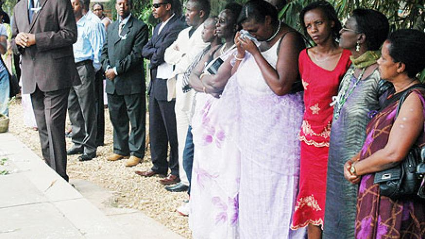 A delegation from the Northen Province paying their respects to victims of the 1994 Genocide against the Tutsi. (Photo J Mbanda)