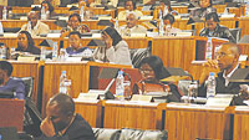 Members of the lower chamber of parliament in a plenary session during the just concluded term. The lawmakers will today wrap up the term. (File Photo)