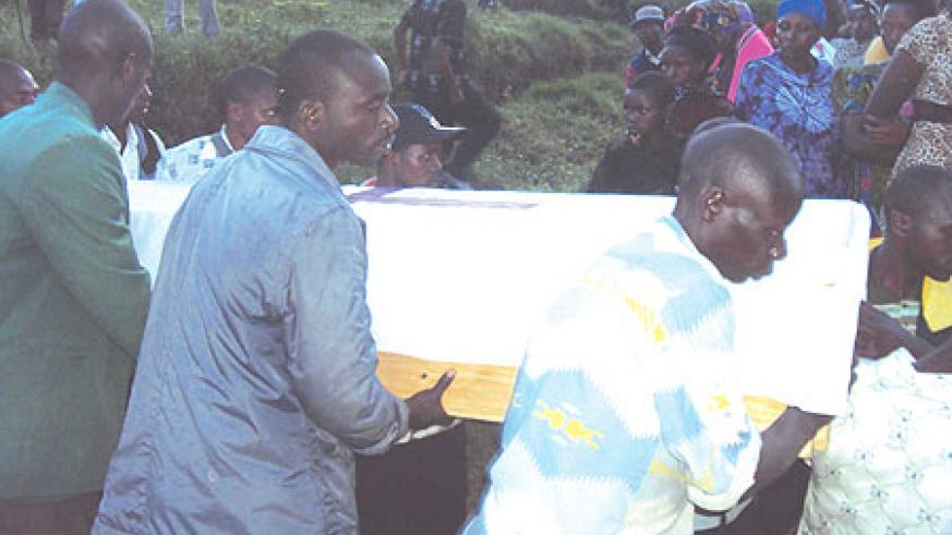 RIP: The body of the late Alex Niyibizi, the former assistant district education director in Rutsiro was also recovered two days ago.