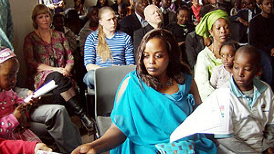 Members of the Rwandan Diaspora in Denmark and well wishers at the commemoration event in Copenhagen (Courtsey Photo)