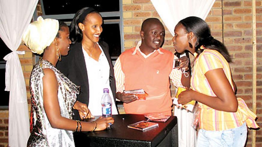 Miss JoJo (L) sharing a light moment with some of the guests at the concert.
