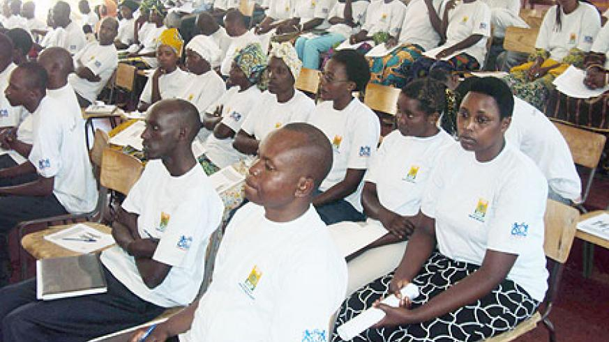Business persons listen attentively during the consultative meeting on Tuesday.(Photo: S. Nkurunziza)