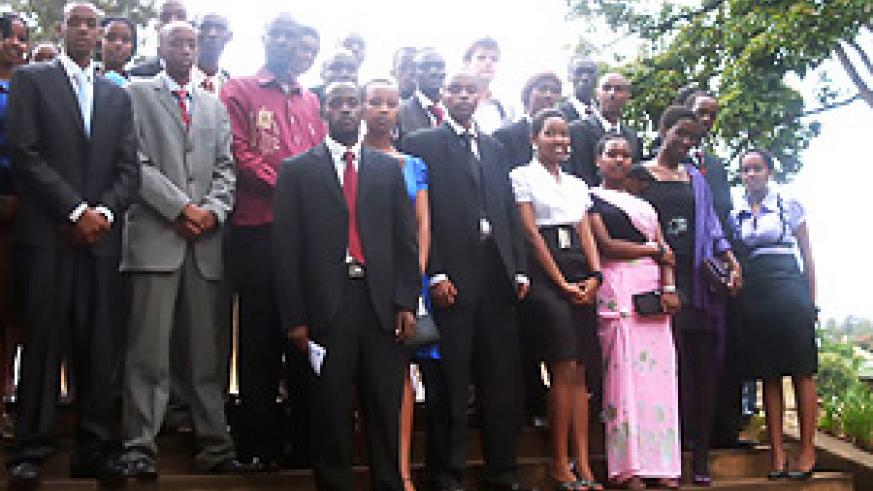 A cross section of the student Presidents who participated in the Commonwealth Mock Debate.