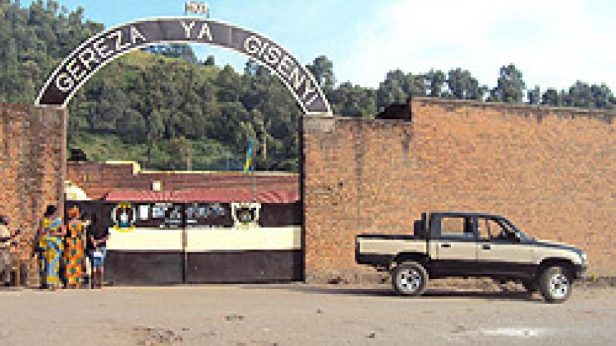 The entrance of Gisenyi Prison in the Western Province. Its director has been arrested over faulting tender procedures. (File Photo)