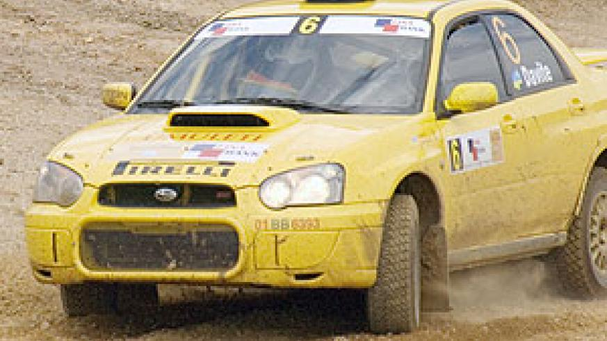 Giancarlo's yellow Subaru will be in action this afternoon. (File photo)