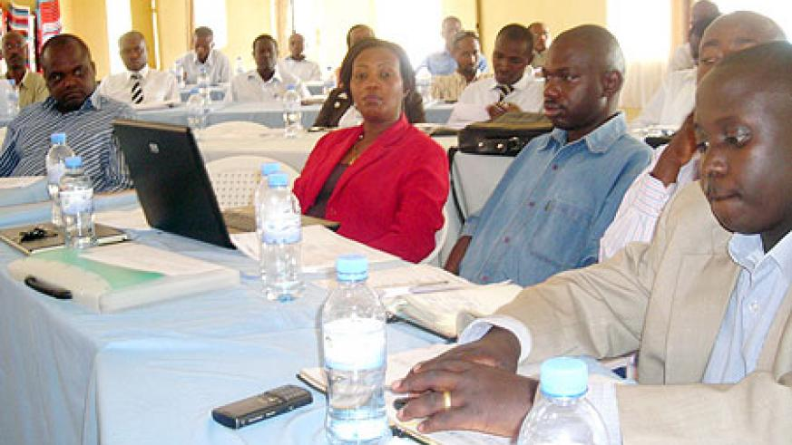 Participants in the evaluation planning meeting. (Photo: P. Ntambara)