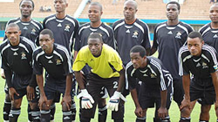 APR players take a group photo before their Primus league encounter with SC Kiyovu. The team will open the 2010 Kagame Cup with a clash against Vital'O. (File Photo)