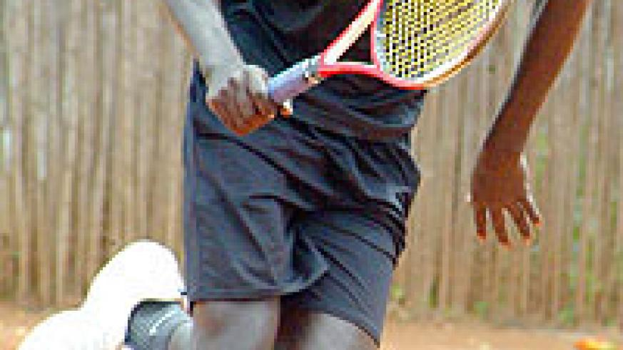 WANTS MORE HONOURS; Jean Claude Gasigwa is in Mombassa to take part in the ITF East African money circuit. (File Photo)