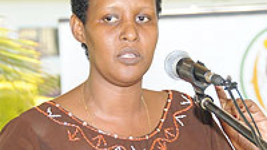 DECRIED GBV: The head of the Gender Monitoring Office Odda Gasinzigwa (File Photo)