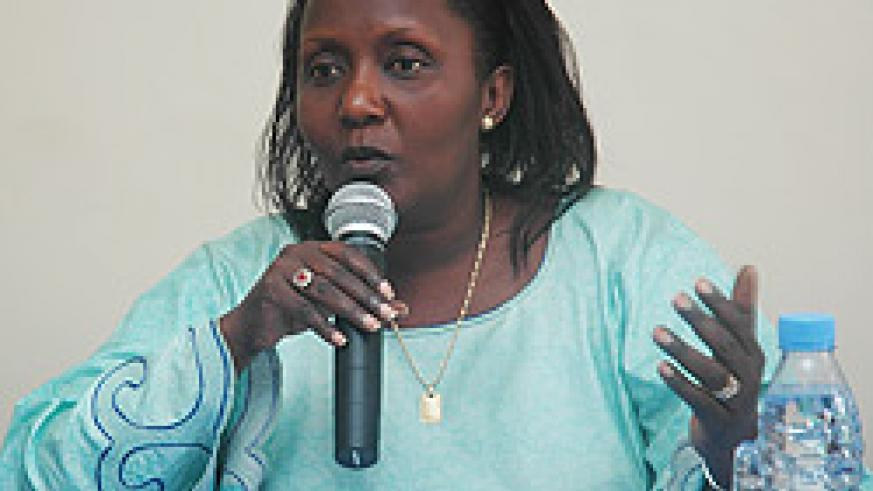 SPEAKS OUT: Domitille Mukantagazwa (File photo)