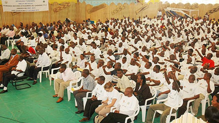 Kigali City local leaders at the Open Day event yesterday (Phot F.Goodman)