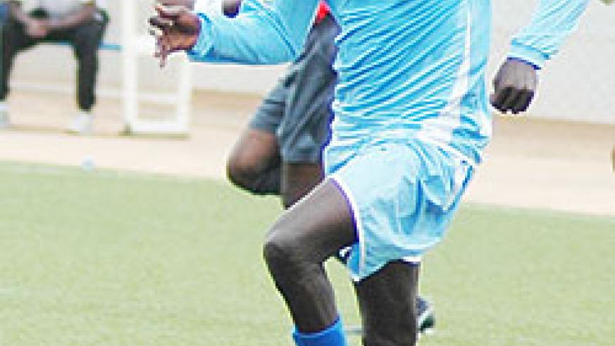 Rayon's Abdul Uwimana is a doubt for today's game. (File Photo)