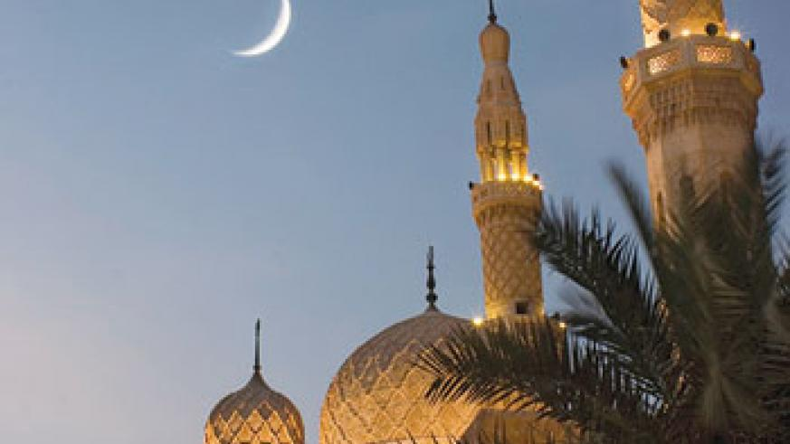 The appearance of a new crescent moon determines the celebration of Eid- al-Fitr. Net photo