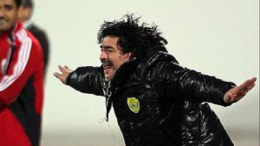 Maradona, rumored to be paid around $5 million a year by Al Wasl. Net photo