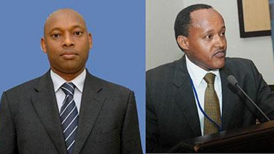L-R : Hannington Namara, assumed his new position last week; confirmed: Faustin Mbundu, PSF chairman